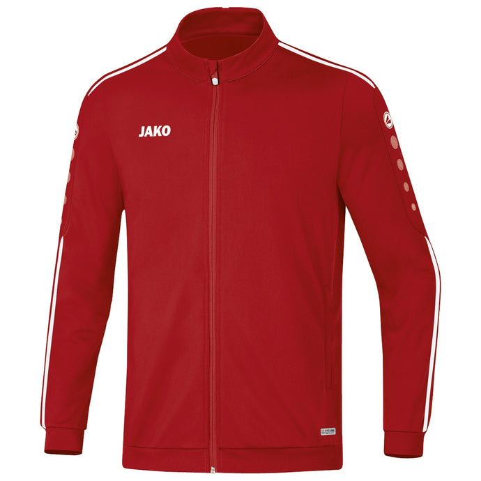 ADULT JAKO POLYESTER JACKET STRIKER 2.0 9319 CHILI RED WHITE