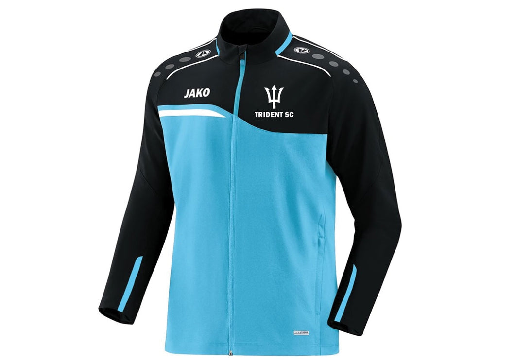 KIDS JAKO TRIDENT SWIM PRESENTATION JACKET COMPETITION 2.0 TS9818K FRONT BLUE