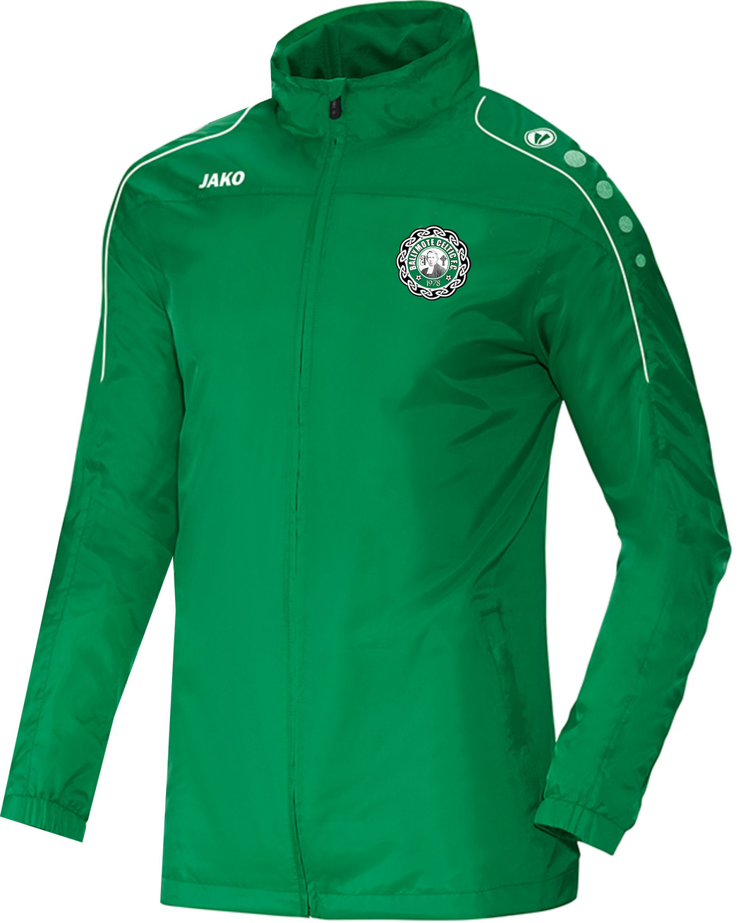 KIDS JAKO BALLYMOTE CELTIC TEAM RAIN JACKET FULL ZIP BC7401K