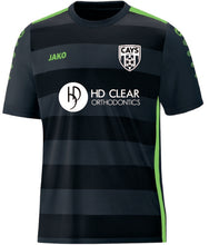 Load image into Gallery viewer, Adult JAKO CAYS HD Clear FRONT Black Jersey CAY1111HDBF