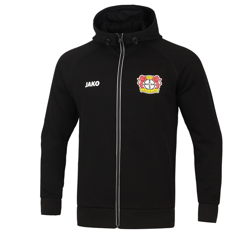 KIDS JAKO BAYER 04 LEVERKUSEN HOODED JACKET PREMIUM BA6805K 1
