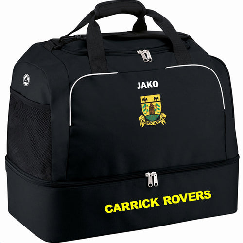 ADULT CARRICK ROVERS JAKO SPORTS BAG WITH BASE CR2050 BLACK
