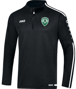 ADULT JAKO CARLISLE SOCCER ZIP TOP CS8619 BLACK