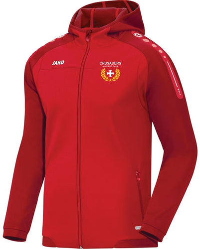 ADULT JAKO CRUSADERS AC HOODY WITH CREST CAC6817C RED WITH CREST