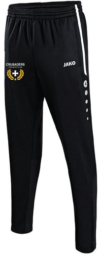 ADULT JAKO CRUSADERS AC PANTS WITH CREST CAC8495C BLACK WITH CREST
