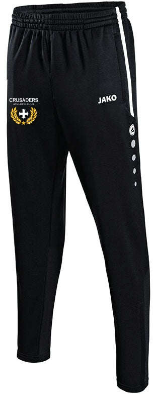 KIDS JAKO CRUSADERS AC PANTS WITH CREST CAC8495CK BLACK WITH CREST