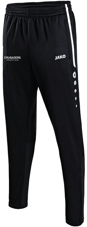 KIDS JAKO CRUSADERS AC PANTS WITH TEXT CAC8495TK BLACK WITH TEXT