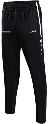 ADULT JAKO CRUSADERS AC PANTS WITH TEXT CAC8495T BLACK WITH TEXT