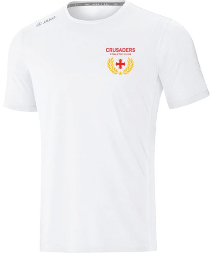 KIDS JAKO CRUSADERS AC TSHIRT WITH CREST CAC6175CK WHITE WITH CREST