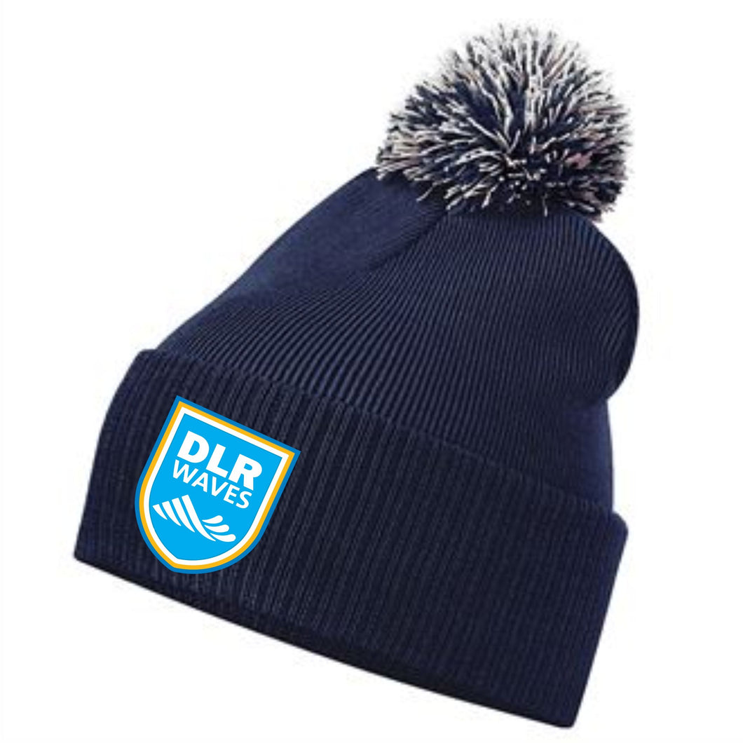 JAKO DLR WAVES BOBBLE HAT DLRBC450 NAVY