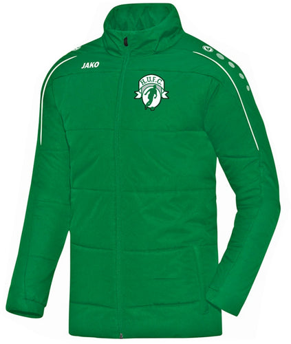 ADULT JAKO HIGHFIELD UNITED COACH JACKET CLASSICO HU7150 GREEN