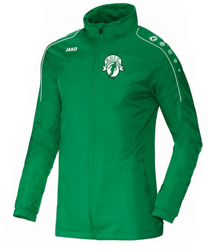 ADULT JAKO HIGHFIELD UNITED RAIN JACKET TEAM HU7401 GREEN
