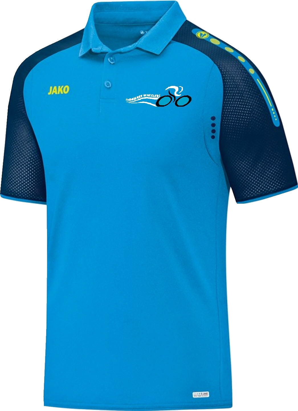 ADULT JAKO INNISFREE WHEELERS POLO IW6317 JAKO BLUE NAVY NEON YELLOW