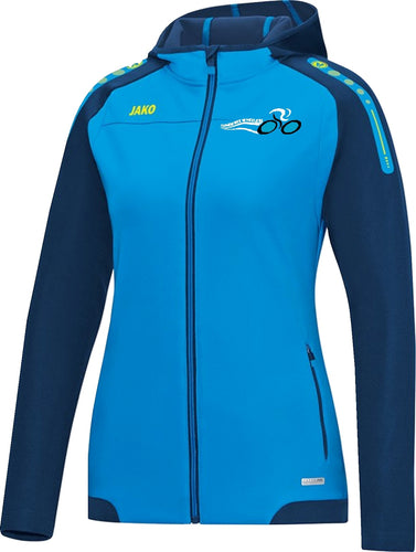 WOMENS JAKO INNISFREE WHEELERS HOODY IW6817W JAKO BLUE NAVY NEON YELLOW