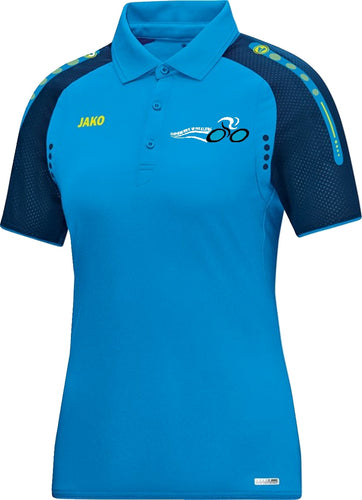 WOMENS JAKO INNISFREE WHEELERS POLO IW6317W JAKO BLUE NAVY NEON YELLOW