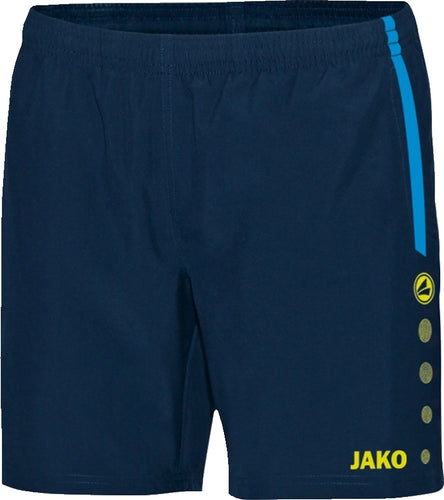 WOMENS JAKO INNISFREE WHEELERS SHORTS IW6217W NAVY JAKO BLUE NEON YELLOW