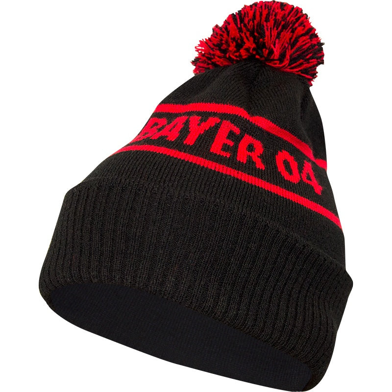 JAKO BAYER 04 LEVERKUSEN BEANIE WITH TASSEL BA1216 BLACK