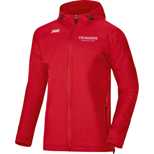 ADULT JAKO CRUSADERS AC WEATHER JACKET WITH TEXT CAC7407T RED Front