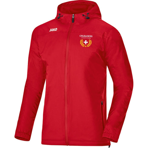 ADULT JAKO CRUSADERS AC WEATHER JACKET WITH CREST CAC7407 RED Front