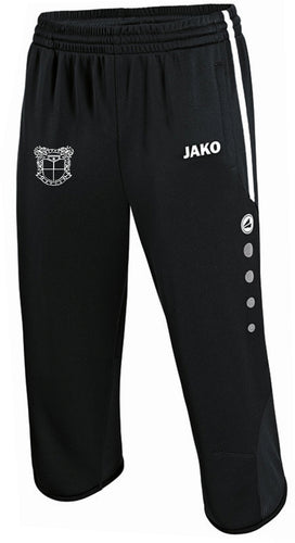 ADULT JAKO MEPHAM SOCCER 3/4 TRAINING PANTS MS8395 BLACK