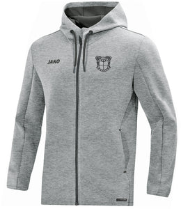 ADULT JAKO MEPHAM SOCCER HOODED JACKET GREY MELANGE MS6829
