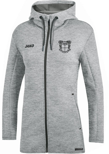 WOMENS JAKO MEPHAM SOCCER HOODED JACKET GREY MELANGE MS6829W
