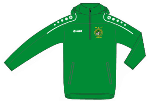 KIDS MULLINGAR ATHLETIC RAIN TOP MA7301K GREEN