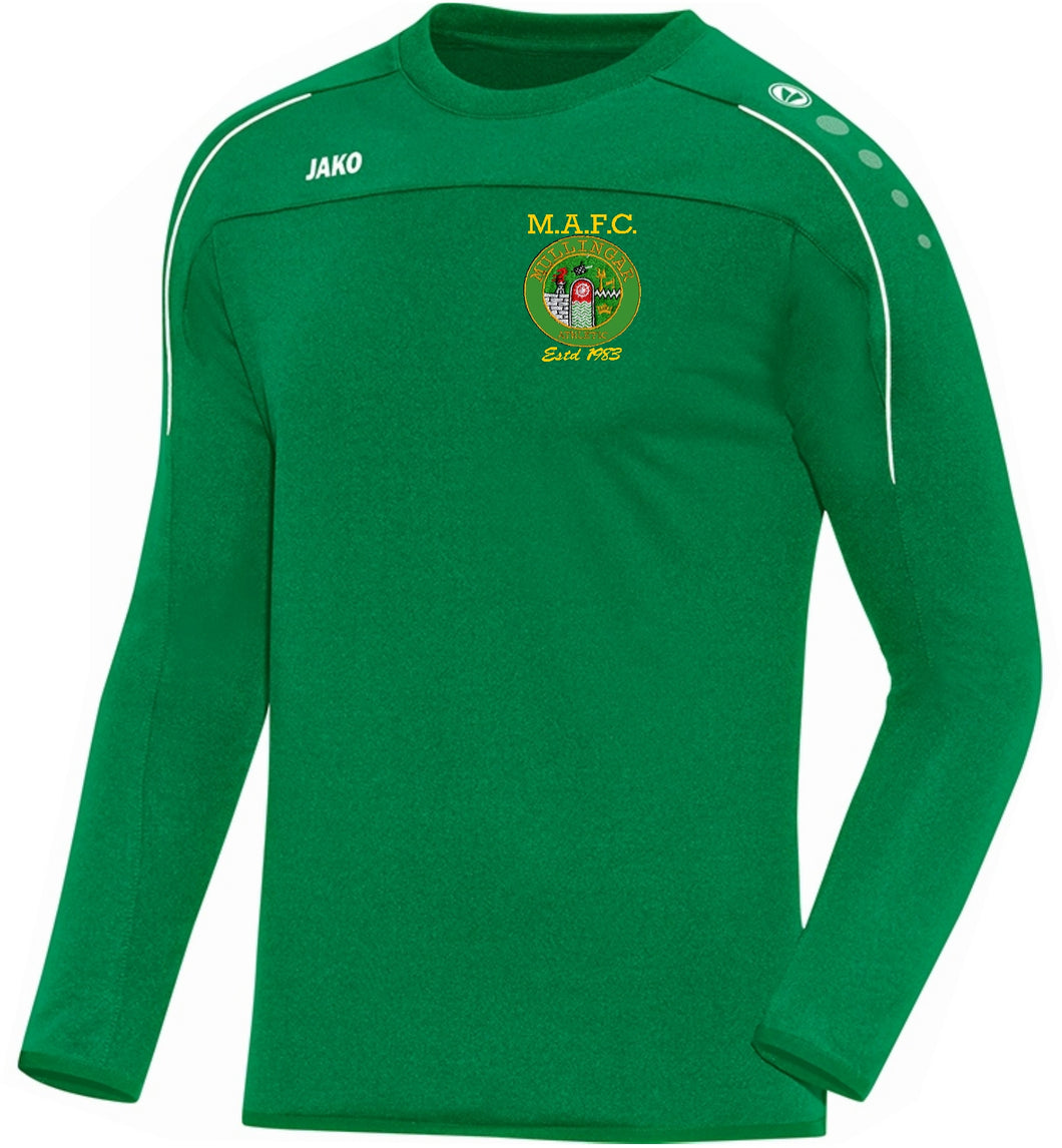 KIDS MULLINGAR ATHLETIC SWEATSHIRT MA8850K GREEN