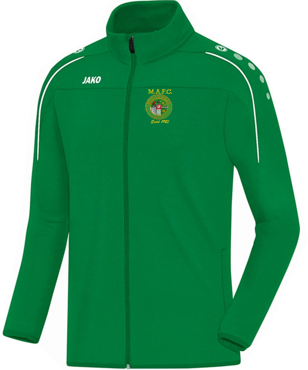 KIDS MULLINGAR ATHLETIC TRAINING JACKET MA8750K GREEN