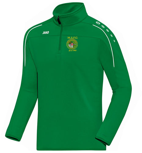 KIDS MULLINGAR ATHLETIC ZIP TOP MA8650K GREEN