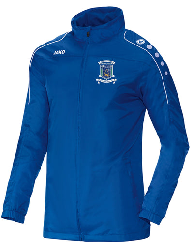 KIDS NEWBRIDGE TOWN FC RAIN JACKET NT7401K ROYAL