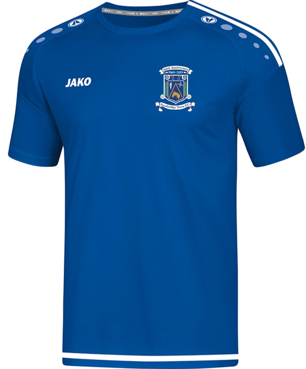 KIDS JAKO NEWBRIDGE TOWN FC TSHIRT NT4219K ROYAL