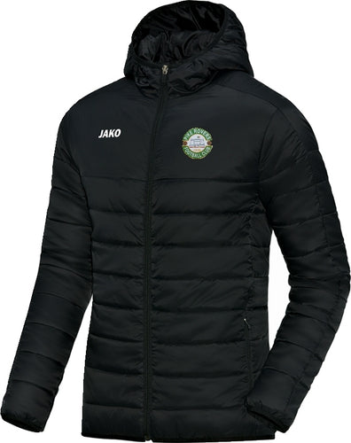 KIDS JAKO PIKE ROVERS QUILTED JACKET PR7250K BLACK