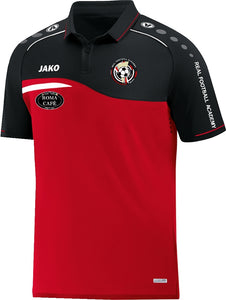 JAKO REAL FA COACH POLO RFA6318 RED BLACK