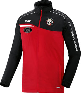 JAKO REAL FA COACH RAIN JACKET RFA7418 RED BLACK