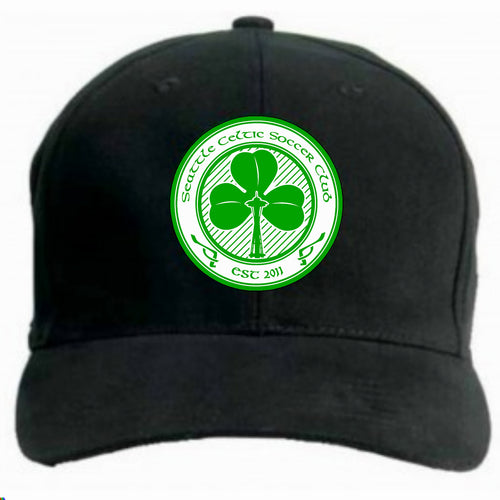 SEATTLE CELTIC BLACK BASEBALL CAP SC0004 BLACK