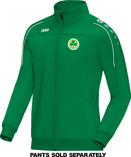 ADULT JAKO SEATTLE CELTIC POLYESTER JACKET SC9350 GREEN