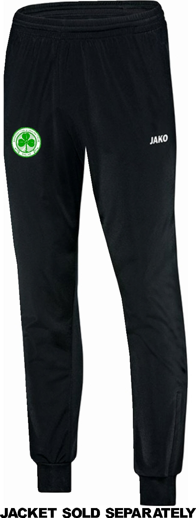 ADULT JAKO SEATTLE CELTIC POLYESTER PANTS SC9250A BLACK