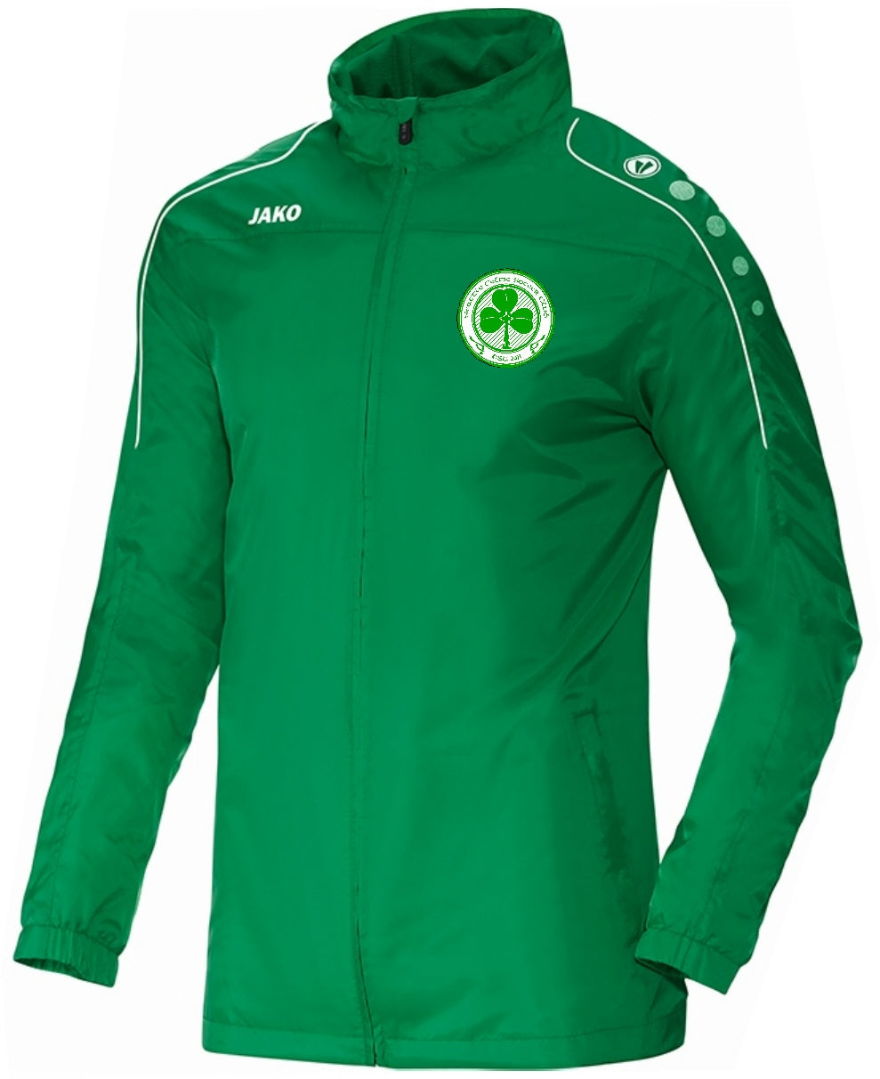 KIDS SEATTLE CELTIC TEAM RAIN JACKET SC7401K GREEN