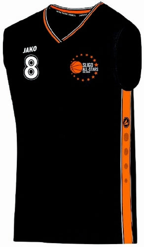 KIDS JAKO SLIGO ALLSTARS HOME REPLICA JERSEY SA4101K BLACK WHITE ORANGE