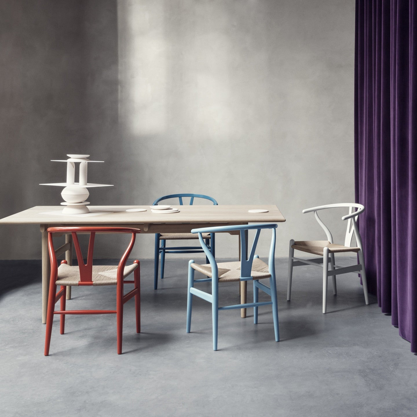 ch24 wishbone chair in colour by carl hansen haus