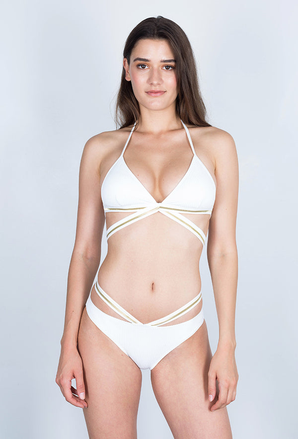 Maillot 2 piece Gold - Metallic - Aulala Swimwear
