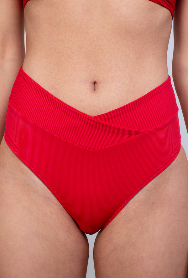 MLLE SEREINE - Bas Couleur Rouge - Aulala Swimwear