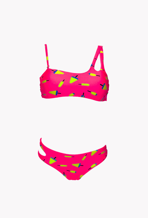 Maillot 2 pieces Ice cream - Sorbet - Aulala Swimwear