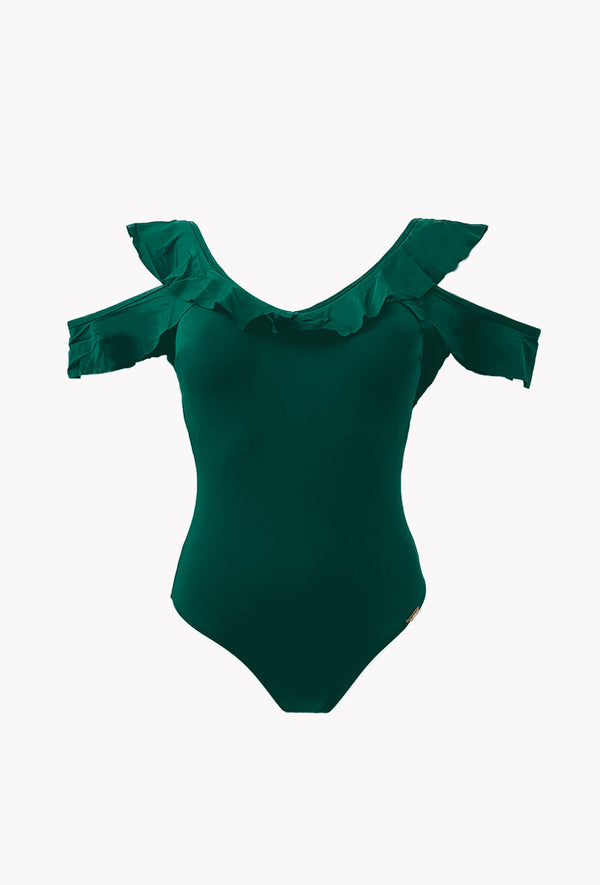 Maillot 1 pièce Frill - Floating - Aulala Swimwear
