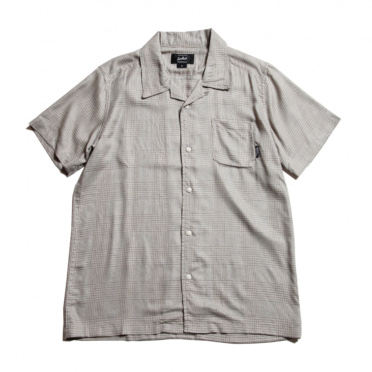 Stan_Dry Rayon Open Collar Shirt