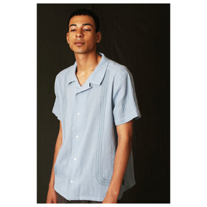 Golson_Open Collar Gauze Shirt