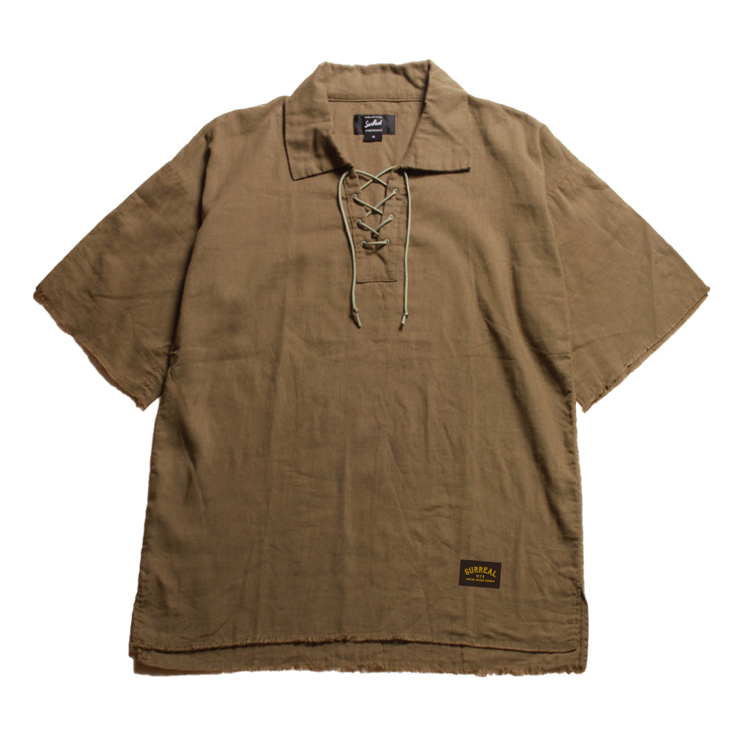 Karim_Lace-Up Pullover Shirt
