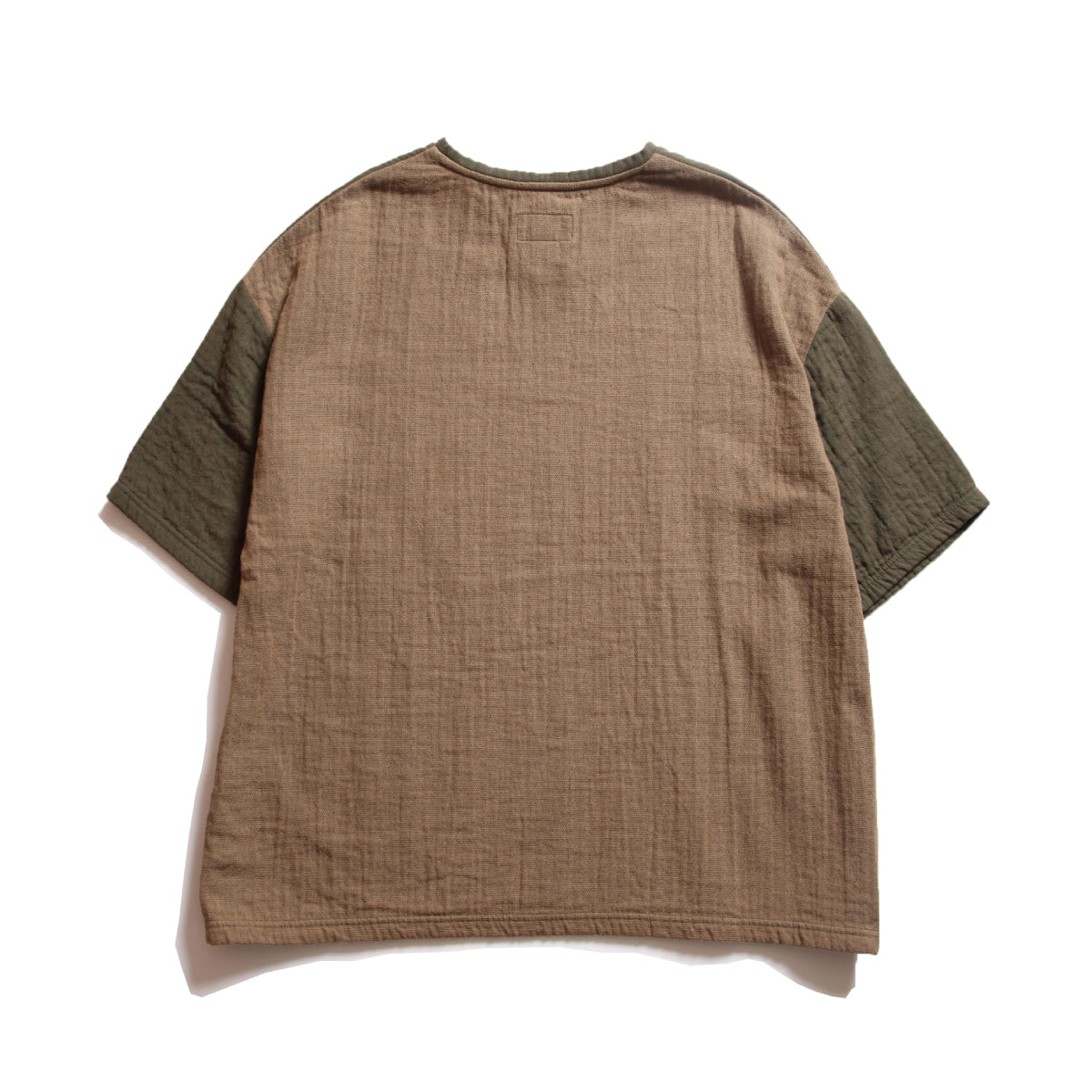 Alfred_Dual Layered Pullover Henry Neck T-Shirt