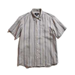 Kannon_Striped Linen S/S Shirt